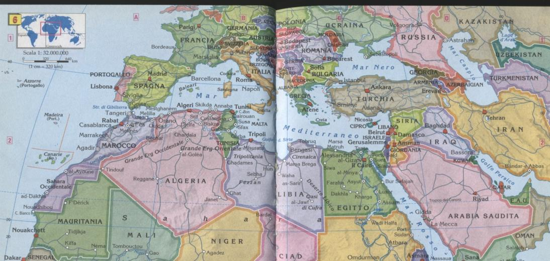 Mediterraneo Cartina Geografica.Nord Africa Cartina Geografica