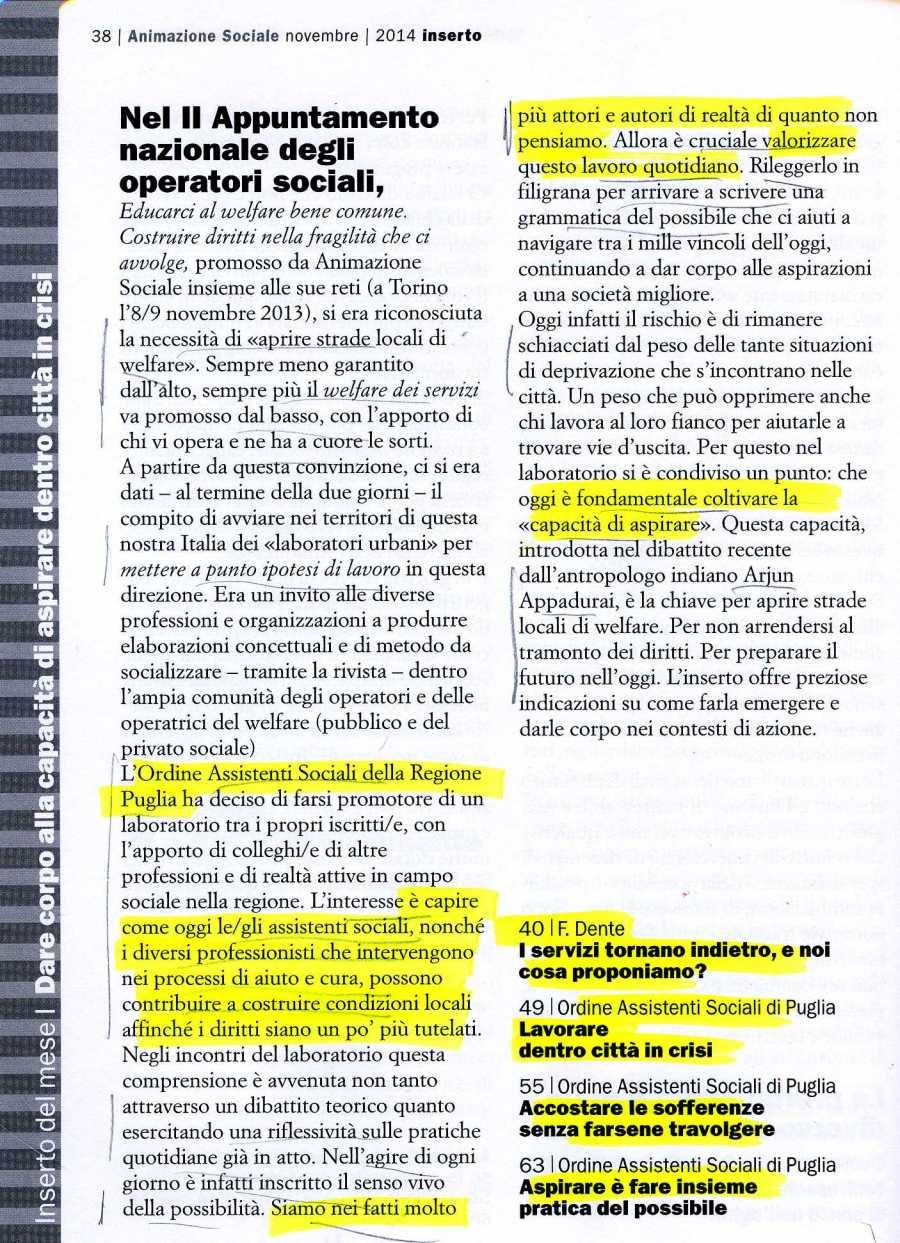 ANIMAZIONE SOCIALE 1923