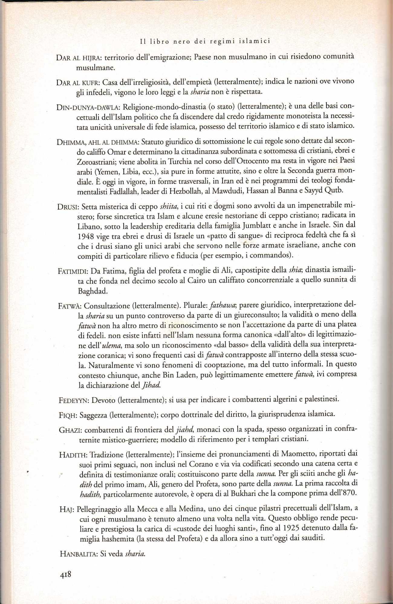PANELLA libro nero regimi islamici2357