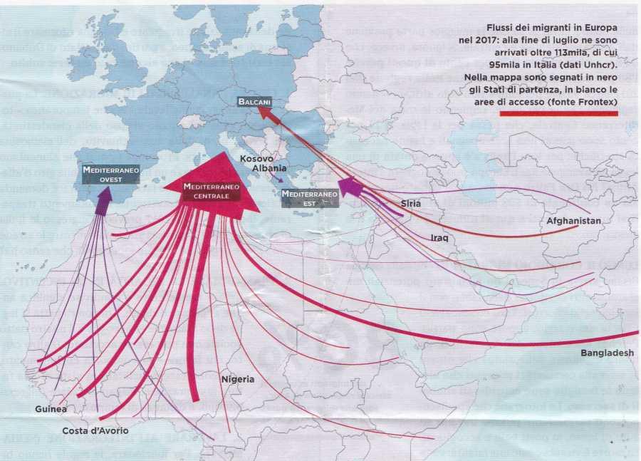 Cartina Europa 2017.Mappa Dei Flussi Migratori In Europa 2017 Mappe Nelle Politiche Sociali E Nei Servizi