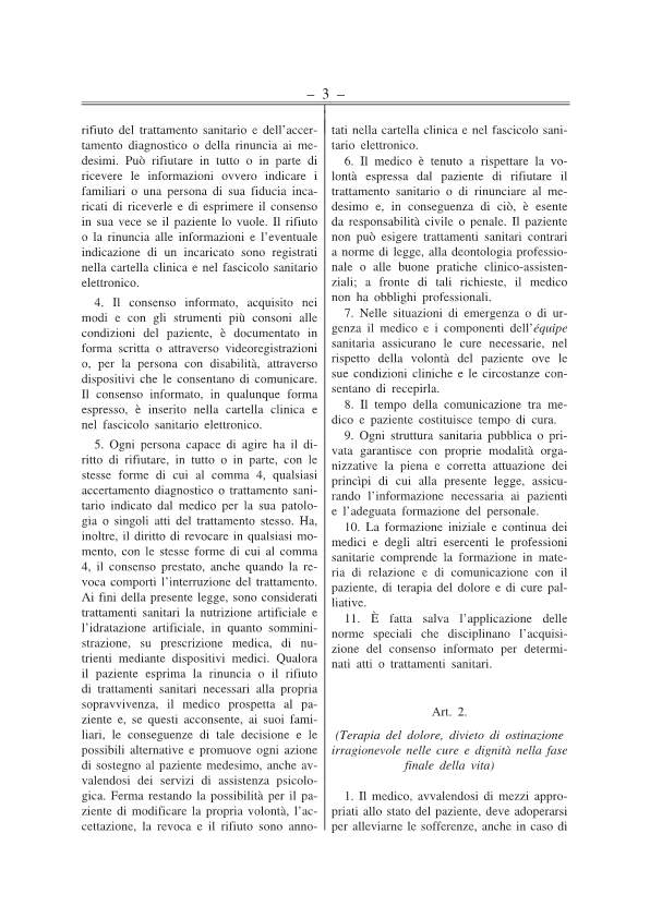 Disposizioni anticipate di trattamento testo approv Senato 141217-p3