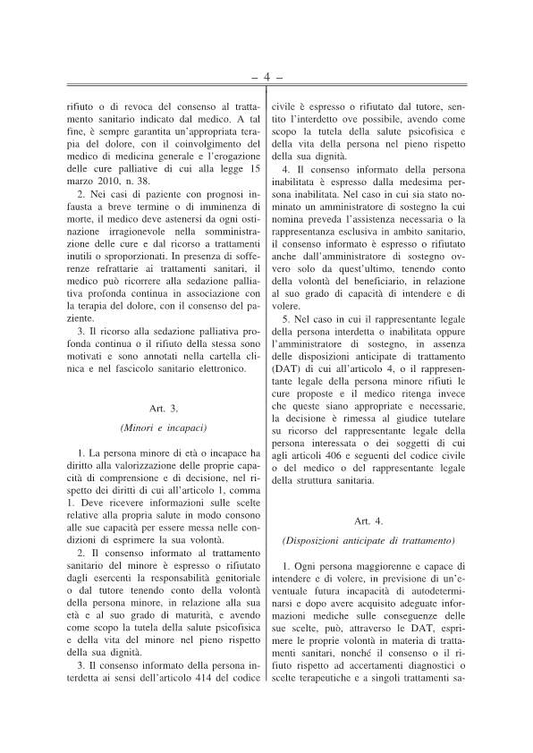 Disposizioni anticipate di trattamento testo approv Senato 141217-p4