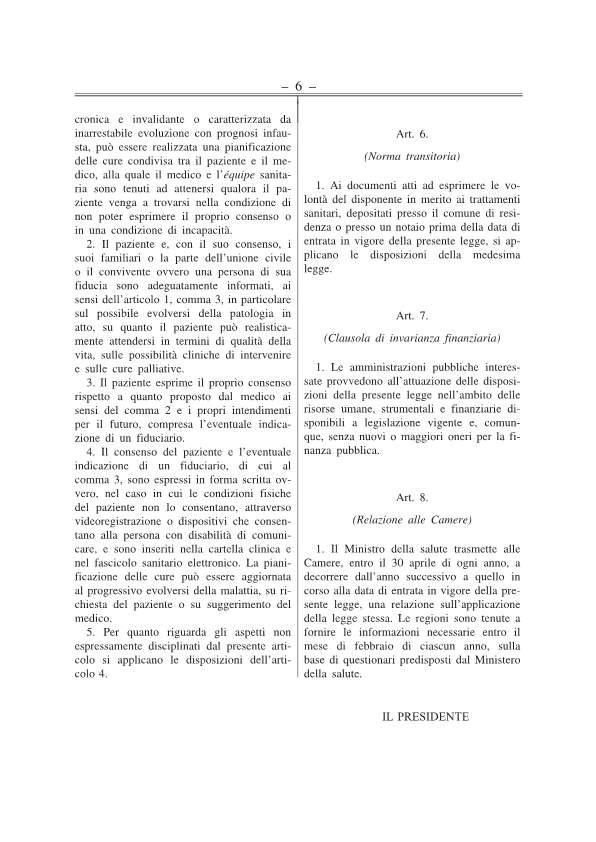 Disposizioni anticipate di trattamento testo approv Senato 141217-p6