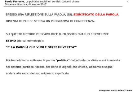 POLITICHE SOCIALI e concetto SERVIZIO 2017 -p07