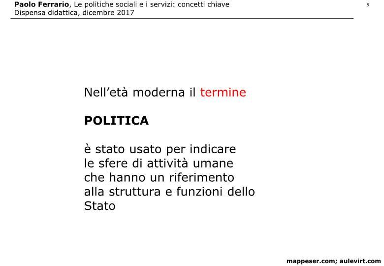 POLITICHE SOCIALI e concetto SERVIZIO 2017 -p09