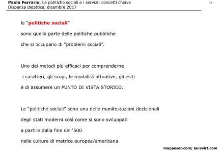 POLITICHE SOCIALI e concetto SERVIZIO 2017 -p15