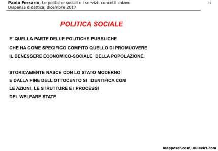 POLITICHE SOCIALI e concetto SERVIZIO 2017 -p19