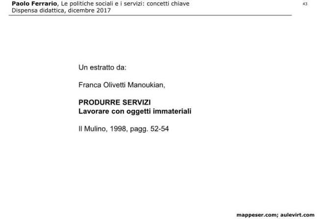 POLITICHE SOCIALI e concetto SERVIZIO 2017 -p43