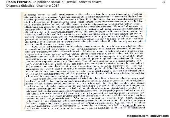 POLITICHE SOCIALI e concetto SERVIZIO 2017 -p45