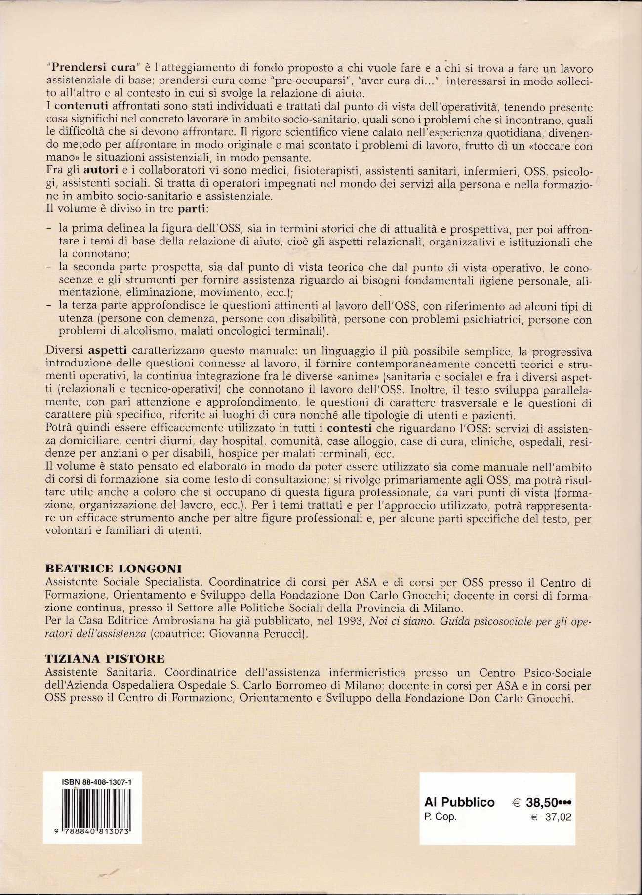 LONGONI PRENDERSI CURA2109