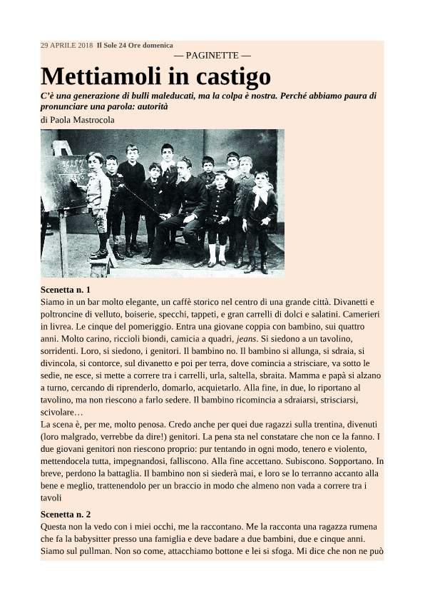 MASTROCOLA, METTIAMOLI IN CASTIGO-p1