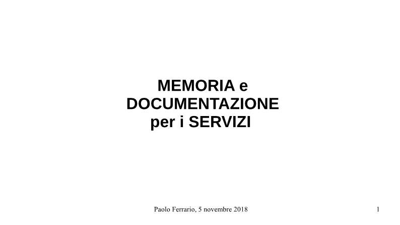 MEMORIA per DOCUMENTAZIONE-p01
