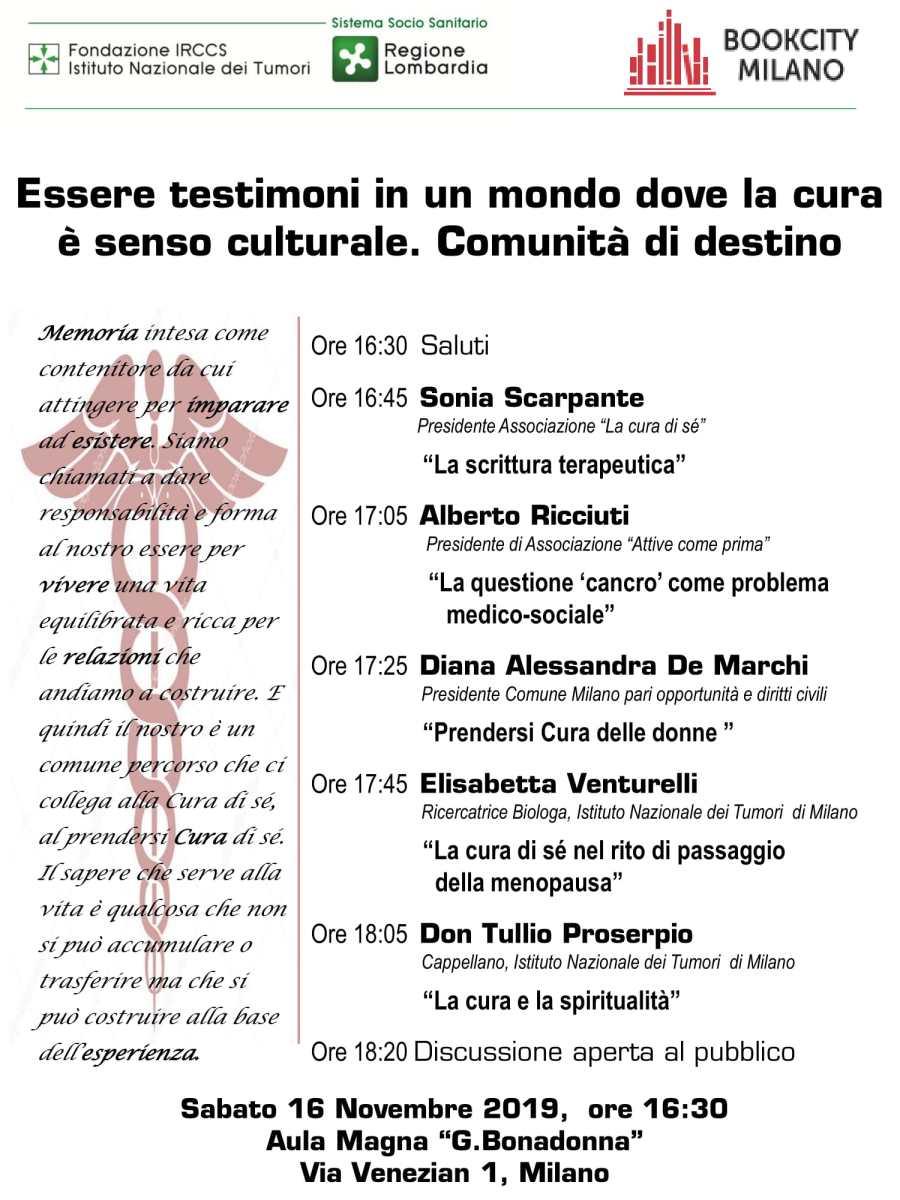 Boocity Milano 16 nov Istituto dei Tumori
