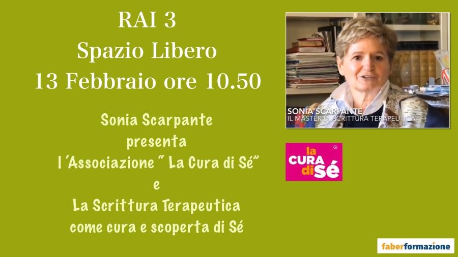 Presentazione RAI 3 La cura di sè e Scrittura terapeutica